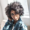 AISIHAIR Short Side Bang Black Afro Curly Wig deal