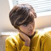 AISIHAIR Short Straight Mixed Colors Side Bangs Synthetic Wig deal