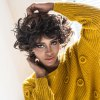 AISIHAIR Shaggy Short Curly Mixed Black Brown Synthetic Wigs deal