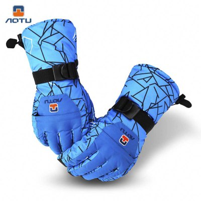 Aotu Paired Unisex Snowboard Skiing Gloves