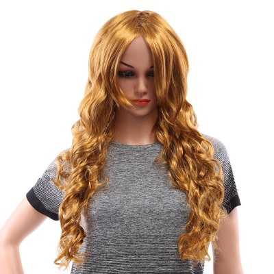 Long Wavy Blonde Wigs for Window Models Cosplay Masquerade Party