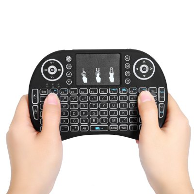 I8 2.4GHz Wireless QWERTY Keyboard with Touchpad Mouse