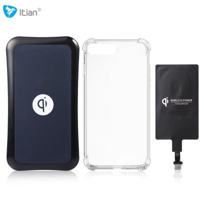 Itian Qi Wireless Charger + Receiver + Cover for iPhone 7 Plus