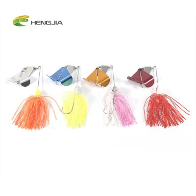 HENGJIA 4pcs Fishing Crankbait Lure Bait with Paillette