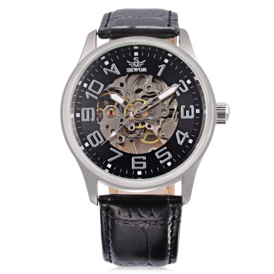 SEWOR SW037 Male Mechanical WatchMens Watches<br>SEWOR SW037 Male Mechanical Watch<br><br>Band Length: 8.27 inch<br>Band Material Type: Leather<br>Band Width: 20mm<br>Case material: Alloy<br>Case Shape: Round<br>Clasp type: Pin Buckle<br>Dial Diameter: 1.57 inch<br>Dial Display: Analog<br>Dial Window Material Type: Hardlex<br>Feature: Luminous<br>Gender: Men<br>Movement: Mechanical Hand Wind<br>Package Contents: 1 x Watch<br>Package Size(L x W x H): 26.50 x 5.50 x 2.00 cm / 10.43 x 2.17 x 0.79 inches<br>Package weight: 0.078 kg<br>Product Size(L x W x H): 25.50 x 4.50 x 1.00 cm / 10.04 x 1.77 x 0.39 inches<br>Product weight: 0.057 kg<br>Style: Business