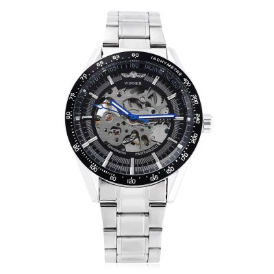 Winner 172 Men Automatic Mechanical WatchMens Watches<br>Winner 172 Men Automatic Mechanical Watch<br><br>Band Length: 8.27 inch<br>Band Material Type: Stainless Steel<br>Band Width: 18mm<br>Case material: Alloy<br>Case Shape: Round<br>Clasp type: Folding Clasp<br>Dial Diameter: 1.57 inch<br>Dial Display: Analog<br>Dial Window Material Type: Hardlex<br>Feature: Luminous<br>Gender: Men<br>Movement: Automatic Self-Wind<br>Package Contents: 1 x Watch<br>Package Size(L x W x H): 11.50 x 5.50 x 2.00 cm / 4.53 x 2.17 x 0.79 inches<br>Package weight: 0.134 kg<br>Product Size(L x W x H): 21.00 x 4.50 x 1.00 cm / 8.27 x 1.77 x 0.39 inches<br>Product weight: 0.113 kg<br>Style: Business