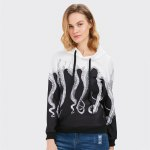 Long Sleeve Hooded Octopus Print Women Hoodie for sale
