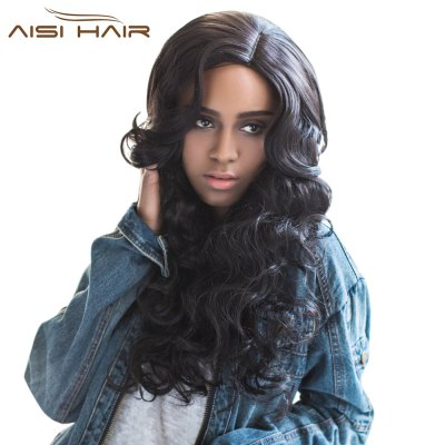 AISIHAIR Graceful Long Side Parting Wavy Synthetic Hair Wigs for Women