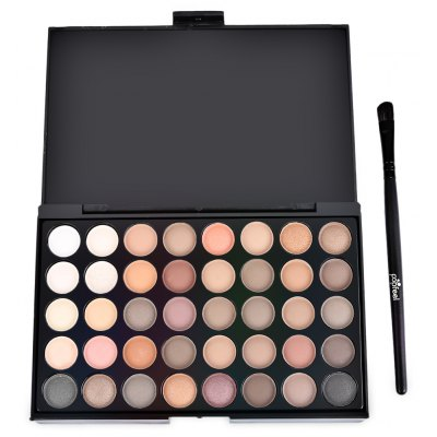 Popfeel 40 Color Pearly Matte Nude Eye Shadow with Brush
