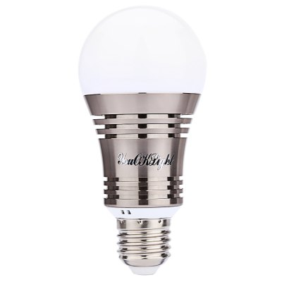 YouOKLight E27 LED Bulb LightSmart Lighting<br>YouOKLight E27 LED Bulb Light<br><br>Average Life (hrs): 50000H<br>Base Type: E27<br>Emitting color: RGB,White<br>Occasion: Bedroom,Garden,Highway,Living Room,Square<br>Support Dimmer: Yes<br>Product weight: 0.111 kg<br>Package weight: 0.213 kg<br>Product Size(L x W x H): 13.00 x 6.00 x 6.00 cm / 5.12 x 2.36 x 2.36 inches<br>Package Size(L x W x H): 13.50 x 8.00 x 8.00 cm / 5.31 x 3.15 x 3.15 inches<br>Package Contents: 1 x Bluetooth 4.0 Smart LED Bulb Light, 1 x English User Manual
