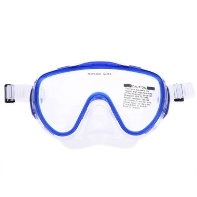 Diving Silicone Tempered Glass Mask Dry Snorkel Set