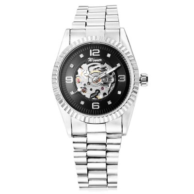 Winner 002 Male Auto Mechanical WatchMens Watches<br>Winner 002 Male Auto Mechanical Watch<br><br>Band Length: 7.87 inch<br>Band Material Type: Stainless Steel<br>Band Width: 16mm<br>Case material: Alloy<br>Case Shape: Round<br>Clasp type: Folding Clasp<br>Dial Diameter: 1.38 inch<br>Dial Display: Analog<br>Dial Window Material Type: Hardlex<br>Feature: Luminous<br>Gender: Men<br>Movement: Automatic Self-Wind<br>Package Contents: 1 x Watch<br>Package Size(L x W x H): 11.00 x 5.00 x 2.00 cm / 4.33 x 1.97 x 0.79 inches<br>Package weight: 0.101 kg<br>Product Size(L x W x H): 20.00 x 4.00 x 1.00 cm / 7.87 x 1.57 x 0.39 inches<br>Product weight: 0.080 kg<br>Style: Business