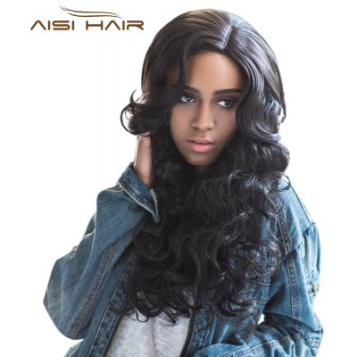 AISIHAIR Graceful Long Side Parting Wavy Synthetic Hair Wigs