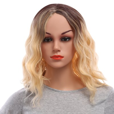 Loose Wavy Lob Gradient Mixed Colors Synthetic Wigs