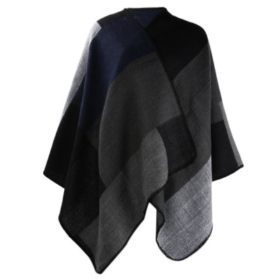 Ethnic Style Color Block Ladies Warm Scarf