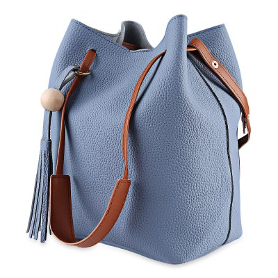 Stylish Tassels Single Strap Pure Color Women Shoulder BagWomens Bags<br>Stylish Tassels Single Strap Pure Color Women Shoulder Bag<br><br>Handbag Type: Bucket Bag<br>Style: Fashion<br>Gender: For Women<br>Pattern Type: Solid<br>Closure Type: No Zipper<br>Internal Material: PU<br>External Material: Ployester<br>Strap Length: 90 cm / 35.43 inches<br>Size(CM)(L*W*H): 22.00 x 14.00 x 27.00 cm / 8.66 x 5.51 x 10.63 inches<br>Product weight: 0.499 kg<br>Package weight: 0.520 kg<br>Package size (L x W x H): 22.50 x 14.50 x 27.50 cm / 8.86 x 5.71 x 10.83 inches<br>Package Contents: 1 x Bag