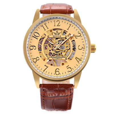 SEWOR SW028 Male Mechanical WatchMens Watches<br>SEWOR SW028 Male Mechanical Watch<br><br>Band Length: 8.27 inch<br>Band Material Type: Leather<br>Band Width: 20mm<br>Case material: Alloy<br>Case Shape: Round<br>Clasp type: Pin Buckle<br>Dial Diameter: 1.57 inch<br>Dial Display: Analog<br>Dial Window Material Type: Hardlex<br>Feature: Luminous<br>Gender: Men<br>Movement: Mechanical Hand Wind<br>Package Contents: 1 x Watch<br>Package Size(L x W x H): 27.00 x 5.80 x 2.00 cm / 10.63 x 2.28 x 0.79 inches<br>Package weight: 0.078 kg<br>Product Size(L x W x H): 26.00 x 4.80 x 1.00 cm / 10.24 x 1.89 x 0.39 inches<br>Product weight: 0.057 kg<br>Style: Business