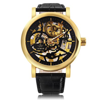 SEWOR SW086 Men Mechanical Hand Wind WatchMens Watches<br>SEWOR SW086 Men Mechanical Hand Wind Watch<br><br>Band Length: 8.46 inch<br>Band Material Type: Genuine Leather<br>Band Width: 20mm<br>Case material: Alloy<br>Case Shape: Round<br>Clasp type: Pin Buckle<br>Dial Diameter: 1.86 inch<br>Dial Display: Analog<br>Dial Window Material Type: Hardlex<br>Feature: Luminous<br>Gender: Men<br>Movement: Mechanical Hand Wind<br>Package Contents: 1 x Watch<br>Package Size(L x W x H): 27.50 x 6.00 x 2.00 cm / 10.83 x 2.36 x 0.79 inches<br>Package weight: 0.099 kg<br>Product Size(L x W x H): 26.50 x 5.00 x 1.00 cm / 10.43 x 1.97 x 0.39 inches<br>Product weight: 0.078 kg<br>Style: Business<br>Water Resistance Depth: 30m