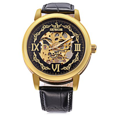 SEWOR SW046 Male Mechanical Hand Wind WatchMens Watches<br>SEWOR SW046 Male Mechanical Hand Wind Watch<br><br>Band Length: 8.27 inch<br>Band Material Type: Leather<br>Band Width: 20mm<br>Case material: Alloy<br>Case Shape: Round<br>Clasp type: Pin Buckle<br>Dial Diameter: 1.77 inch<br>Dial Display: Analog<br>Dial Window Material Type: Hardlex<br>Feature: Luminous<br>Gender: Men<br>Movement: Mechanical Hand Wind<br>Package Contents: 1 x Watch<br>Package Size(L x W x H): 27.00 x 6.00 x 2.00 cm / 10.63 x 2.36 x 0.79 inches<br>Package weight: 0.089 kg<br>Product Size(L x W x H): 26.00 x 5.00 x 1.00 cm / 10.24 x 1.97 x 0.39 inches<br>Product weight: 0.068 kg<br>Style: Business