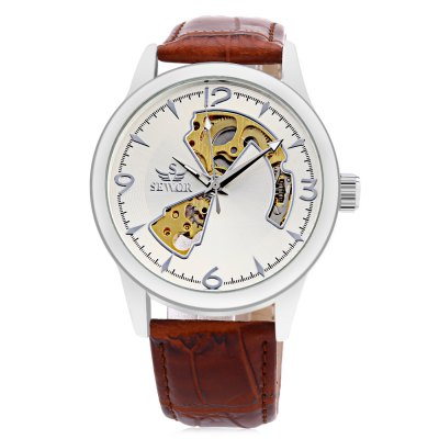 SEWOR SW031 Mechanical Male WatchMens Watches<br>SEWOR SW031 Mechanical Male Watch<br><br>Band Length: 8.27 inch<br>Band Material Type: Leather<br>Band Width: 20mm<br>Case material: Alloy<br>Case Shape: Round<br>Clasp type: Pin Buckle<br>Dial Diameter: 1.57 inch<br>Dial Display: Analog<br>Dial Window Material Type: Hardlex<br>Feature: Luminous<br>Gender: Men<br>Movement: Mechanical Hand Wind<br>Package Contents: 1 x Watch<br>Package Size(L x W x H): 26.50 x 5.50 x 2.00 cm / 10.43 x 2.17 x 0.79 inches<br>Package weight: 0.078 kg<br>Product Size(L x W x H): 25.50 x 4.50 x 1.00 cm / 10.04 x 1.77 x 0.39 inches<br>Product weight: 0.057 kg<br>Style: Business