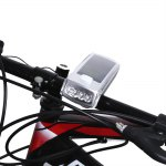 Bike USB Rechargeable Solar 4 LEDs Front Light with Horn