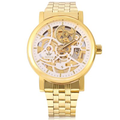 SEWOR SW085 Men Mechanical Hand Wind WatchMens Watches<br>SEWOR SW085 Men Mechanical Hand Wind Watch<br><br>Band Length: 9.45 inch<br>Band Material Type: Stainless Steel<br>Band Width: 20mm<br>Case material: Alloy<br>Case Shape: Round<br>Clasp type: Folding Clasp<br>Dial Diameter: 1.86 inch<br>Dial Display: Analog<br>Dial Window Material Type: Hardlex<br>Feature: Luminous<br>Gender: Men<br>Movement: Mechanical Hand Wind<br>Package Contents: 1 x Watch<br>Package Size(L x W x H): 13.00 x 6.00 x 2.00 cm / 5.12 x 2.36 x 0.79 inches<br>Package weight: 0.154 kg<br>Product Size(L x W x H): 24.00 x 5.00 x 1.00 cm / 9.45 x 1.97 x 0.39 inches<br>Product weight: 0.133 kg<br>Style: Business<br>Water Resistance Depth: 30m