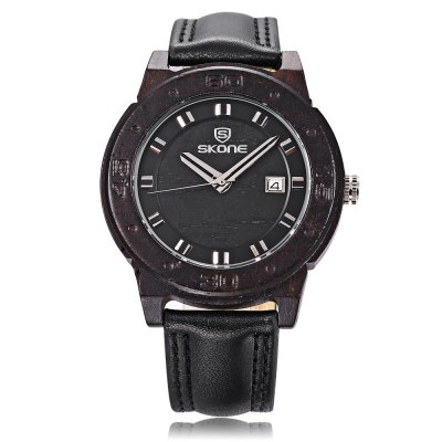 SKONE 9426B Men Quartz WatchMens Watches<br>SKONE 9426B Men Quartz Watch<br><br>Band Length: 7.88 inch<br>Band Material Type: Leather<br>Band Width: 18mm<br>Case material: Wooden<br>Case Shape: Round<br>Clasp type: Pin Buckle<br>Dial Diameter: 1.68 inch<br>Dial Display: Analog<br>Dial Window Material Type: Hardlex<br>Feature: Date<br>Gender: Men<br>Movement: Quartz<br>Package Contents: 1 x Watch<br>Package Size(L x W x H): 10.00 x 7.50 x 6.50 cm / 3.94 x 2.95 x 2.56 inches<br>Package weight: 0.120 kg<br>Product Size(L x W x H): 24.50 x 4.50 x 1.20 cm / 9.65 x 1.77 x 0.47 inches<br>Product weight: 0.035 kg<br>Style: Business<br>Water Resistance Depth: 30m