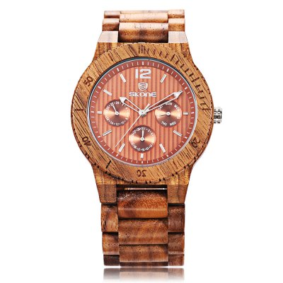 SKONE 7401EG Men Quartz WatchMens Watches<br>SKONE 7401EG Men Quartz Watch<br><br>Band Length: 8.66 inch<br>Band Material Type: Wooden<br>Band Width: 26mm<br>Case material: Wooden<br>Case Shape: Round<br>Clasp type: Hook Buckle<br>Dial Diameter: 1.71 inch<br>Dial Display: Analog<br>Dial Window Material Type: Hardlex<br>Feature: Luminous, Day, Date<br>Gender: Men<br>Movement: Quartz<br>Package Contents: 1 x Watch<br>Package Size(L x W x H): 10.00 x 7.50 x 6.50 cm / 3.94 x 2.95 x 2.56 inches<br>Package weight: 0.148 kg<br>Product Size(L x W x H): 22.00 x 4.70 x 1.20 cm / 8.66 x 1.85 x 0.47 inches<br>Product weight: 0.063 kg<br>Style: Business<br>Water Resistance Depth: 30m