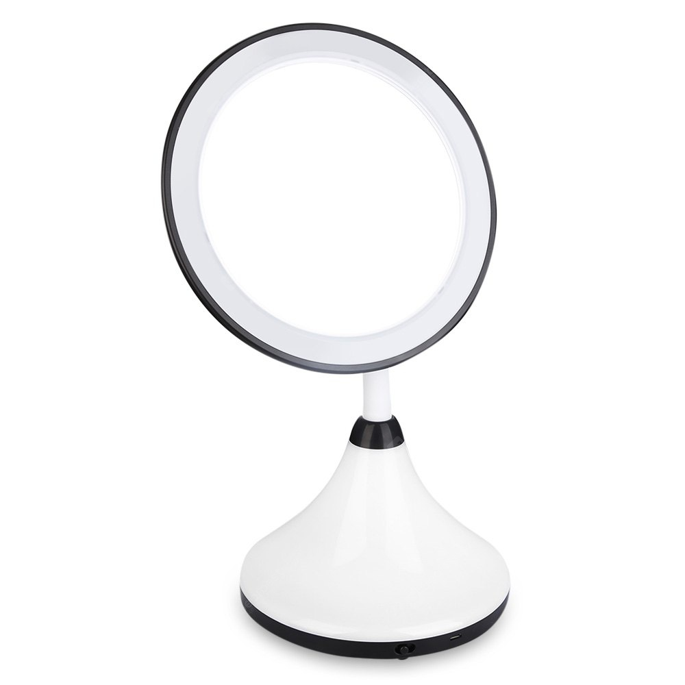 Adjustable Countertop Rotating LED Touch Makeup Mirror