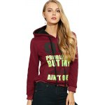 Casual Drawstring 99 Letter Print Women Hoodie