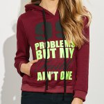 Casual Drawstring 99 Letter Print Women Hoodie for sale