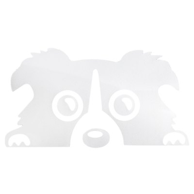 14cm x 8cm Waterproof Reflective Dog Car Sticker