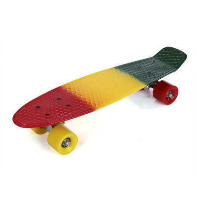 22 inch Colorful Four-wheel Plastic Fish Long Skateboard