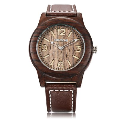 SKONE 9427 Men Quartz WatchMens Watches<br>SKONE 9427 Men Quartz Watch<br><br>Band Length: 7.88 inch<br>Band Material Type: Leather<br>Band Width: 18mm<br>Case material: Wooden<br>Case Shape: Round<br>Clasp type: Pin Buckle<br>Dial Diameter: 1.71 inch<br>Dial Display: Analog<br>Dial Window Material Type: Hardlex<br>Feature: Luminous<br>Gender: Men<br>Movement: Quartz<br>Package Contents: 1 x Watch<br>Package Size(L x W x H): 10.00 x 7.50 x 6.50 cm / 3.94 x 2.95 x 2.56 inches<br>Package weight: 0.116 kg<br>Product Size(L x W x H): 24.50 x 4.50 x 1.20 cm / 9.65 x 1.77 x 0.47 inches<br>Product weight: 0.031 kg<br>Style: Business<br>Water Resistance Depth: 30m