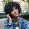 best AISIHAIR Short Fluffy Black Afro Curly Synthetic Wigs