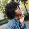 AISIHAIR Short Fluffy Black Afro Curly Synthetic Wigs deal