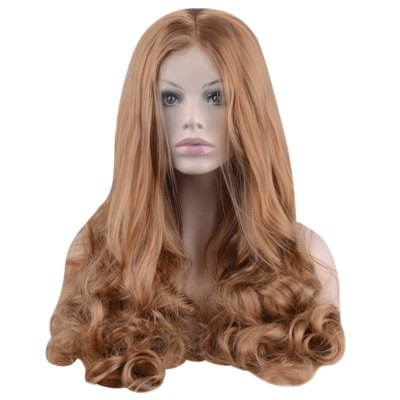 Long Light Brown Wavy Lace Front Wigs
