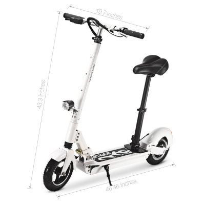 GBtiger A3S Electric Scooter Two-wheel Board with SeatScooters and Wheels<br>GBtiger A3S Electric Scooter Two-wheel Board with Seat<br><br>Applicable People: Unisex<br>Category: Two-wheel Scooter<br>Foldable: Yes<br>Package Contents: 1 x Scooter, 1 x English User Manual, 3 x Spanner, 1 x Power Adapter<br>Package Size(L x W x H): 119.00 x 24.00 x 48.50 cm / 46.85 x 9.45 x 19.09 inches<br>Package weight: 24.2000 kg<br>Product Size(L x W x H): 118.00 x 50.05 x 109.99 cm / 46.46 x 19.7 x 43.3 inches<br>Product weight: 20.1000 kg