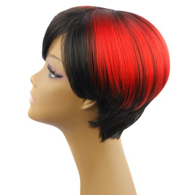 AISIHAIR Short Side Bangs Wigs Synthetic Hair for WomenSynthetic Wigs<br>AISIHAIR Short Side Bangs Wigs Synthetic Hair for Women<br><br>Bang Type: Side<br>Can Be Permed: Yes<br>Cap Construction: Full Lace<br>Cap Size: Adjustable<br>Gender: Female,Girl<br>Lace Wigs Type: Full Lace Wigs<br>Length: Short<br>Length Size(CM): 28cm<br>Length Size(Inch): 11.02inch<br>Material: Synthetic High Temperature Hair<br>Net Type: Rose Net<br>Package Contents: 1 x Wig<br>Package size (L x W x H): 30.00 x 20.00 x 5.00 cm / 11.81 x 7.87 x 1.97 inches<br>Package weight: 0.195 kg<br>Product size (L x W x H): 28.00 x 5.00 x 5.00 cm / 11.02 x 1.97 x 1.97 inches<br>Product weight: 0.150 kg<br>Style: Natural Straight<br>Type: Full Wigs