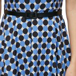 best Trendy Allover Dot Print A-line Dress with Belt for Ladies