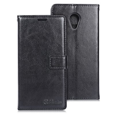 Tomkas Crazy Horse Series PU Leather Cover Case Wallet 2 in 1 with Card Slot for Meizu 3S