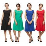 best Old Classical Style Round Collar Sleeveless Pure Color Dress