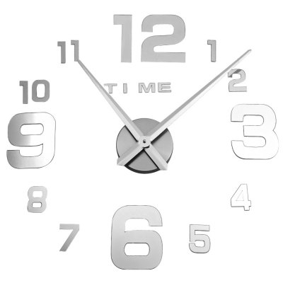 M.Sparkling DIY Mirror Wall Stickers Clock