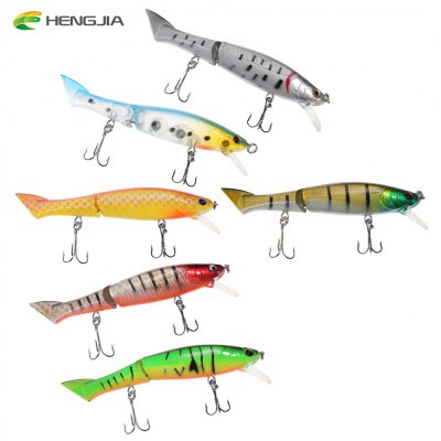 HENGJIA 6pcs 6 Colors Fishing Plastic Lure Bait