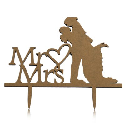 Mr Mrs Bride Groom Wedding Cake Topper Decoration Accessory