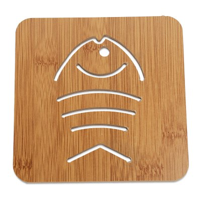 Creative Hollow Wooden Carved Coaster Cup Mat