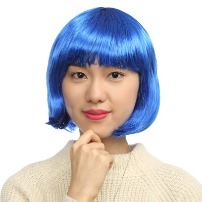 Women Short Bob Wigs Cosplay Party Costume