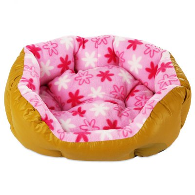 Soft Washable Flower Printed Pet Dog Cat Bed