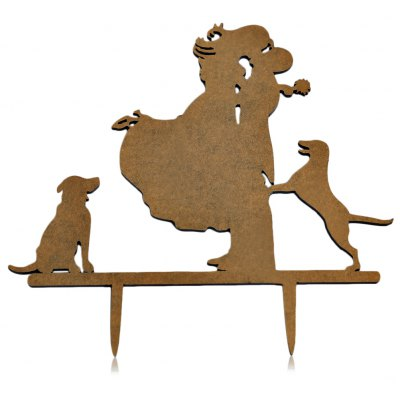 Dog Stand Bride Groom Wedding Cake Topper Decoration