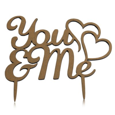 You and Me Wedding Party Cake Inserted Card Decoration